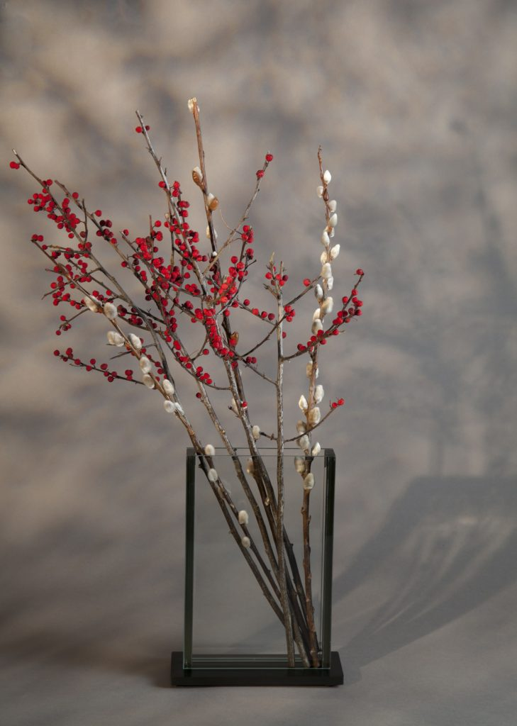 V2 - PUSSY WILLOWS AND WINTER BERRIES